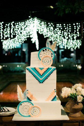 bohemian wedding theme boho cake with dreamcatchers and ethnic decor imaj gallery