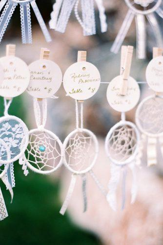 bohemian wedding theme diy dream catchers escort card rachel solomon photography