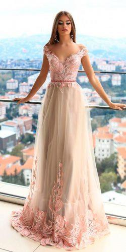 daria karlozi 2018 guest wedding dresses blush a line sweetheart neck lace cap sleeves minkar
