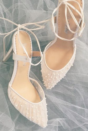 gorgeous bridal shoes low heels with pearls bella belle shoes
