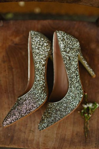 gorgeous bridal shoes sequins gold with heels peter carvill