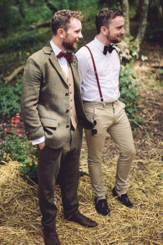 groom suits vintage hacky color waistcoat with bowtie jenna woodward