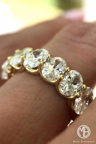 mark broumand engagement rings band yellow gold oval cut diamond