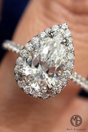 mark broumand engagement rings pear cut diamond halo pave band white gold