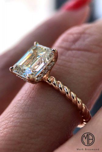 mark broumand engagement rings twist solitaire gold radiant cut diamond