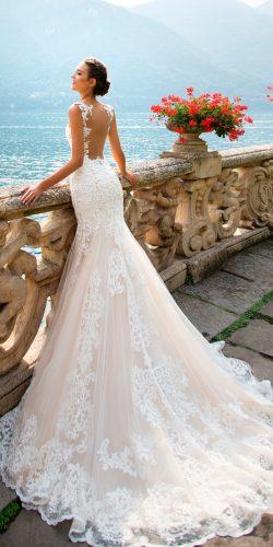 milla nova wedding dresses 2017 trumpet blush low back lace with straps amalia