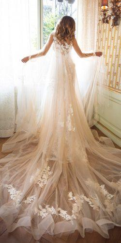 milla nova wedding dresses sheath blush lace backless sleeveless with cape sleeves jessica