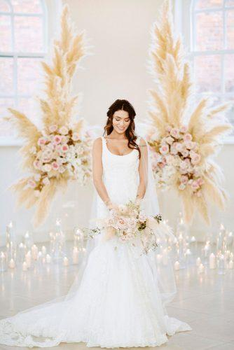 pampas grass wedding and roses backdrop david jenkins photography