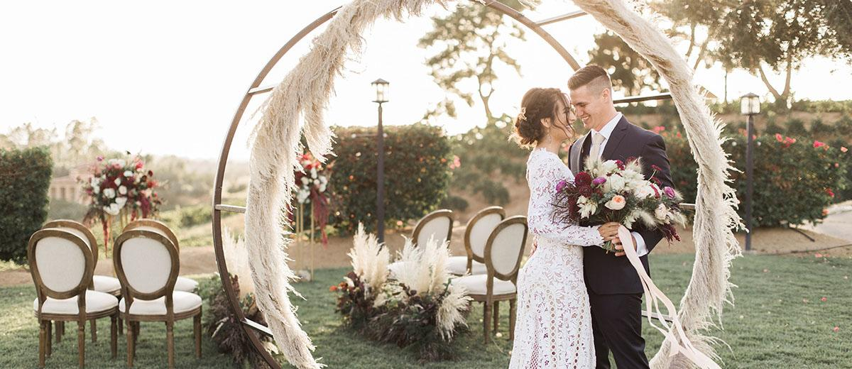 pampas grass wedding featured