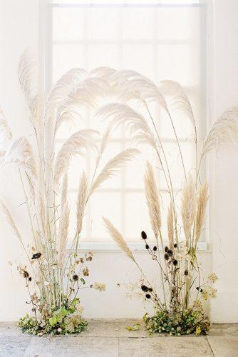 pampas grass wedding naturally backdrop bowtie & belle photography