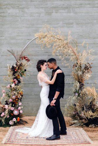 pampas grass wedding pampas grass autumn wedding altar jeff brummett visuals