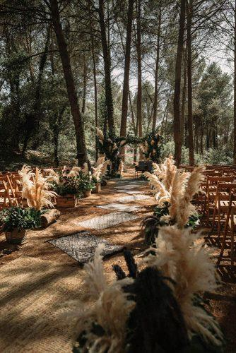 pampas grass wedding pampas grass boho ceremony in wood pablo laguia