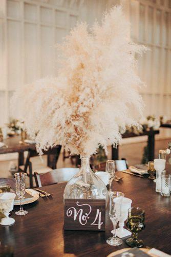 pampas grass wedding tall centerpiece in glass vase décor for rustic boho wedding tyler branch