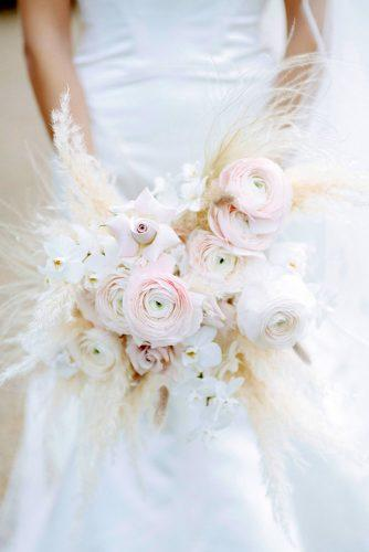 pampas grass wedding white blush wedding bouquet pocketfull of dreams