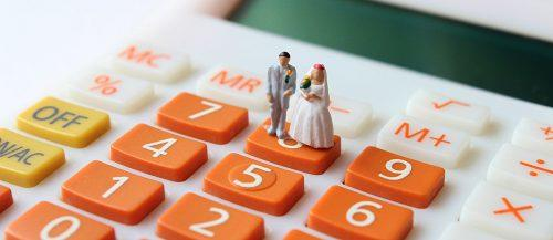 wedding budget toys calculate bride and groom featured