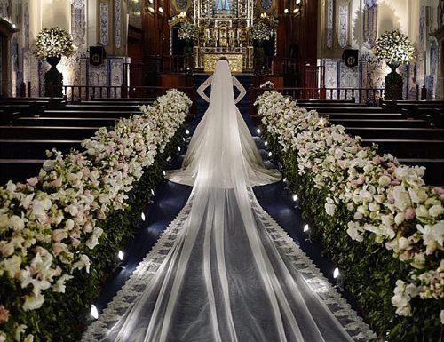 wedding ceremony beautiful bride church