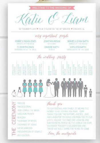 wedding program template infographic wedding program template