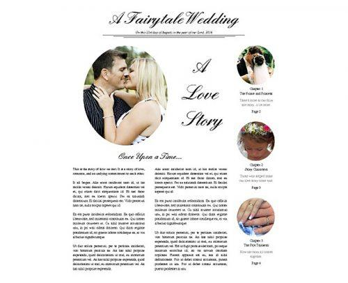 wedding program template newspaper wedding program