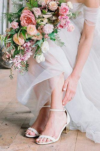 wedding shoes trends simple ankle straps real brides bella belle orchid by joy proctor