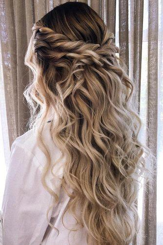 boho wedding hairstyles half up half down curly swept isabellajanehairstyling