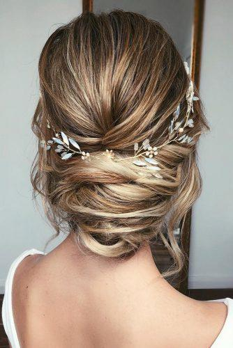 boho wedding hairstyles messy low updo and elegant halo caraclynebrida