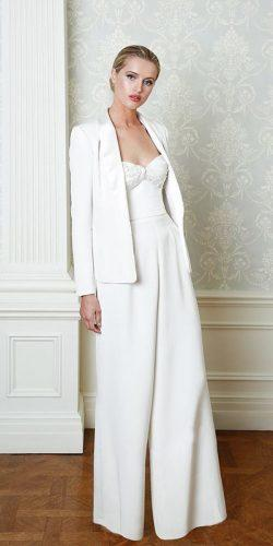 casual wedding dresses simple pantsuit strapless sweetheart neckline with jacket cristinaottaviano