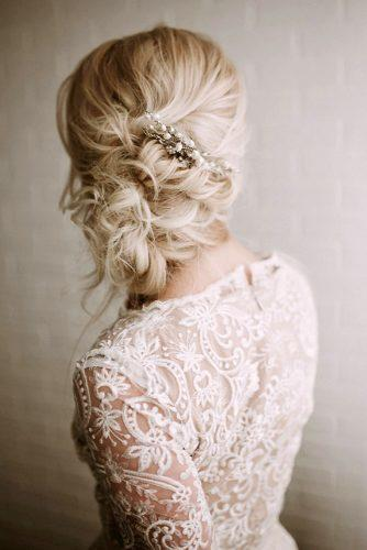 classical wedding hairstyles airy side updo on blonde thin hair kelsie emm photography