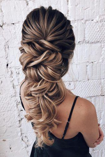 classical wedding hairstyles cascading textured for long hair oksana_sergeeva_stilist via instagram