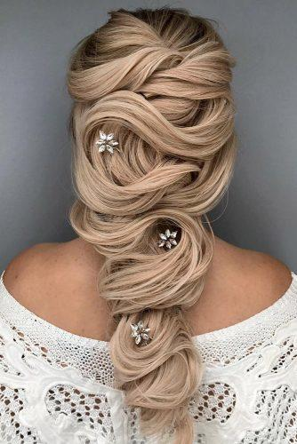 classical wedding hairstyles elegant cascading hairdo alexandralee via instagram