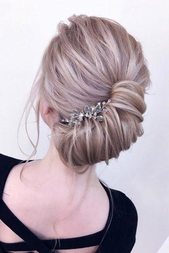 classical wedding hairstyles elegant french roll on blonde hair xenia_stylist