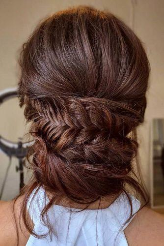 classical wedding hairstyles elegant low chignon slightly messy with braid sarahwhair