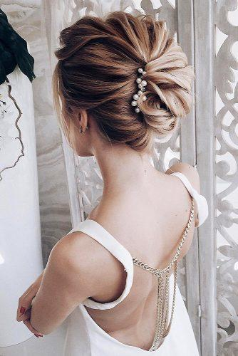 classical wedding hairstyles elegant textured updo lenabogucharskaya via instagram
