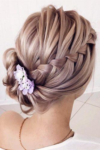 classical wedding hairstyles side updos with french braid lenabogucharskaya via instagram