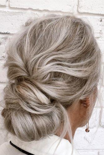 classical wedding hairstyles slightly messy blonde chignon jodycallanhair