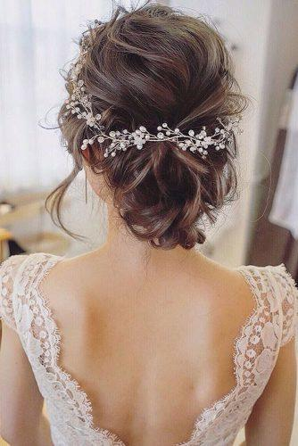 classical wedding hairstyles soft textured low wedding updo maisonderire via instagram