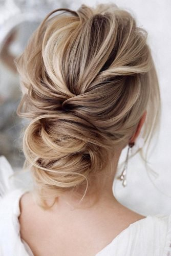 classical wedding hairstyles textured low updo messy blonde hair tonyastylist