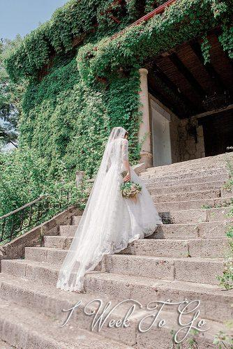destination weddings beautiful bride at the stairs