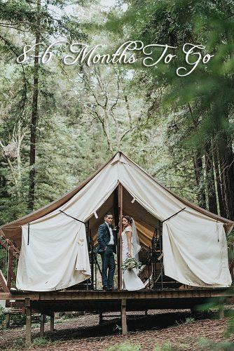 destination weddings married couple at the glamping