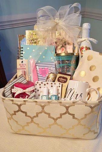 engagement gifts engagement basket Grits and Pearls