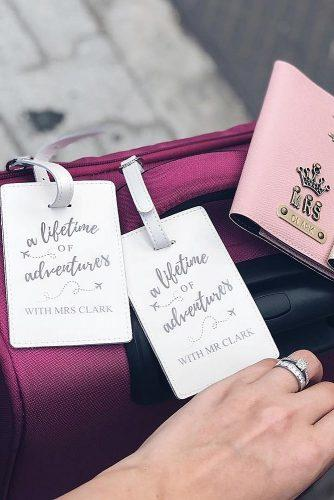 engagement gifts luggage tags