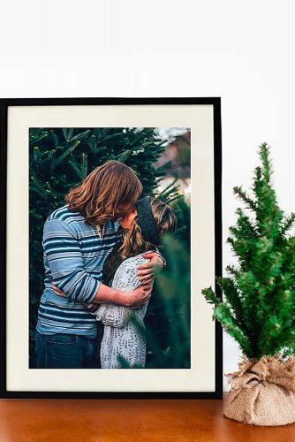 engagement gifts personalized canvas print