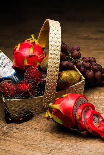 engagement gifts fresh fruits basket