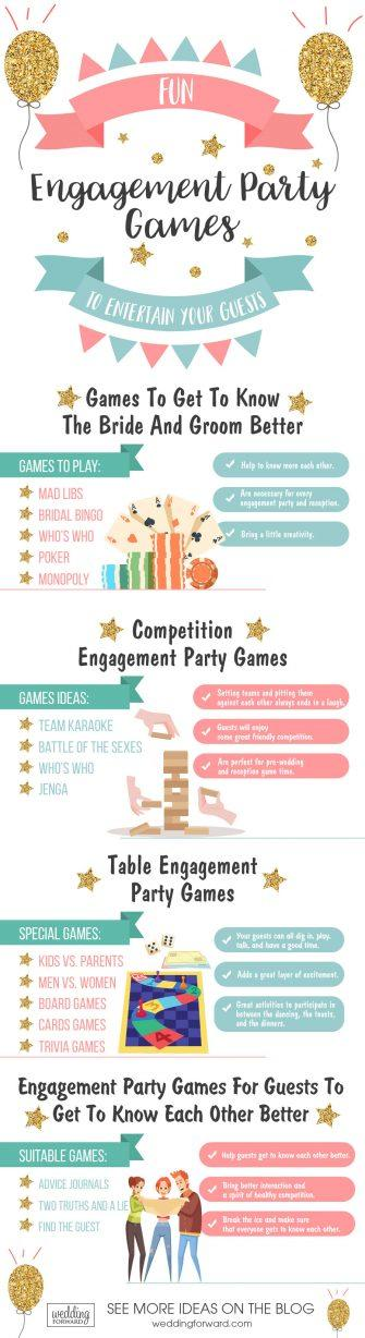 engagement party games infographic