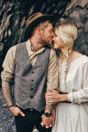 groom attire grey vest rustic boho style iskra photo