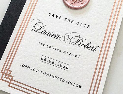 how to address save the dates art deco save the date