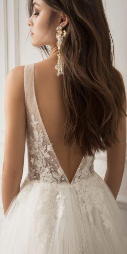 lihi hod wedding dresses a line low back lace hand beaded sleeveless with straps