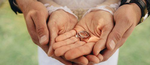 mrs or ms hands married couple engagement wedding rings featured