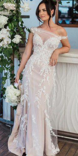 off the shoulder wedding dresses illusion sweetheart neck lace straight steven khalil