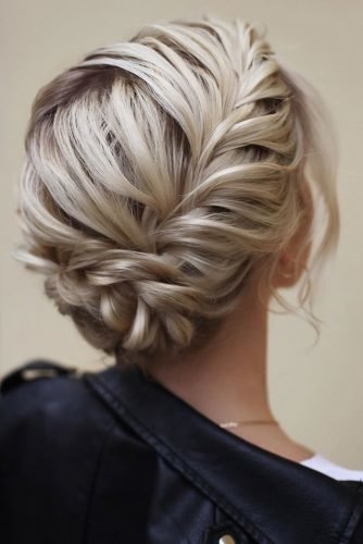 pinterest wedding hairstyles blonde short hair with braided texture lenabogucharskaya