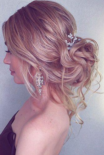 pinterest wedding hairstyles elegant low bun with loose curls on blonde hair olesya_nefyodkina